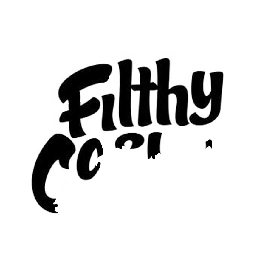 Mid reveal of Filthy Casual's wordmark